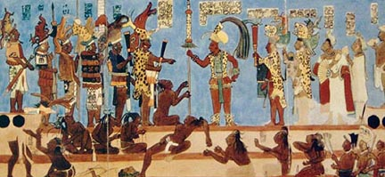 The art of hugu n for Bonampak mural painting